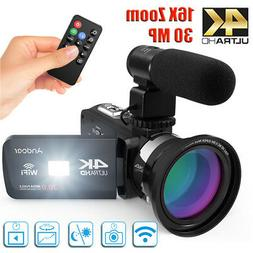 "#US Andoer 3.0""LCD 4K WiFi Digital Video Camera Camcorder DV"