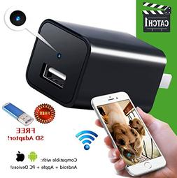 USB Charger Camera Home Security Hidden Spy Cam WiFi Motion