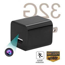 USB Hidden Spy Camera - ABOUR 32GB 1080P HD Motion Activated