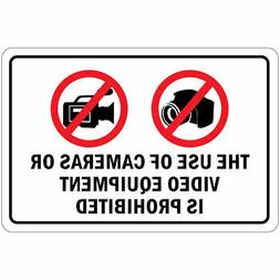Horizontal Metal Sign Multiple Sizes Use Cameras Video Equip