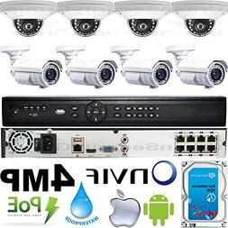 USG Business Grade 4MP 2592x1520 8 Camera HD Security System