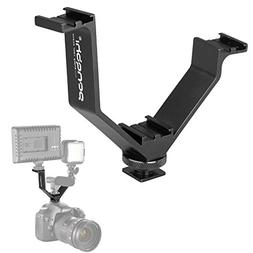 V-Shape Bracket Triple 3 Hot Shoe Mount Compatible with Niko
