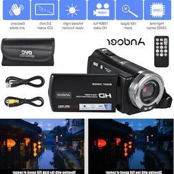 Andoer V12 Portable Handheld 1080P Full HD Camera Camcorder