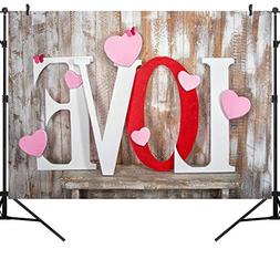 OUYIDA 9X6FT Valentine's Day Theme Pictorial Cloth Photograp