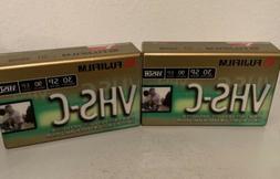FUJIFILM VHS-C 2 Pack 30 SP 90 EP Camcorder Video Camera Vid