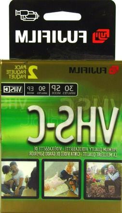 Fujifilm VHS-C 2pk 30 SP-90 EP Camcorder Cassettes Video Cam