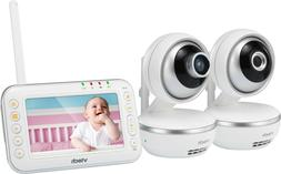 Video Baby Monitor with Two Motorized Cameras, Std & Wide an