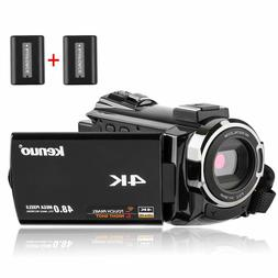 Video Camera Kenuo 4K Camcorder, 48MP Portable Ultra-HD 60FP