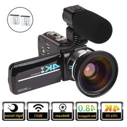 video camera 4k camcorder for live streaming