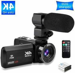 Video Camera 4K Camcorder Ultra HD Vlogging Camera for YouTu
