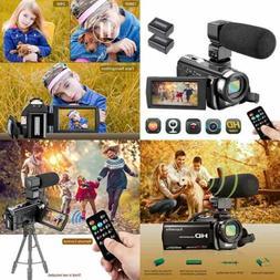 Video Camera Camcorder FHD 1080P 24.0MP Digital Youtube Vlog