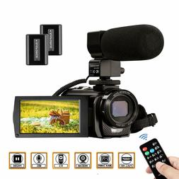 Video Camera Camcorder FHD 1080P 30FPS 24MP YouTube Camera w