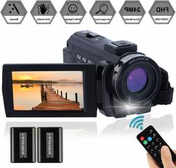 Video Camera Camcorder Full HD 1080P 30FPS 24.0 MP FamBrow
