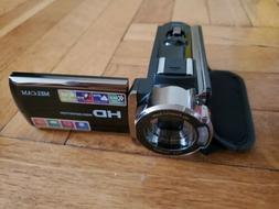 Video Camera Camcorder Melcam HD 1080P 24.0MP, 3.0 inch LCD