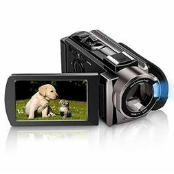 Video Camera Camcorder Melcam HD 1080P 24.0MP, 3.0 inch LCD