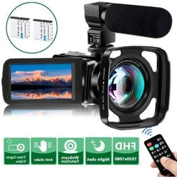 Video Camera Camcorder w/Microphone VideoSky FHD 1080P 24MP