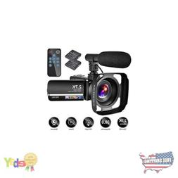 Vlogging Video Camcorder W/ Microphone YouTube Camera Record