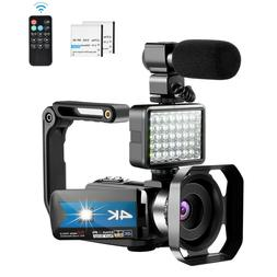 Video Camera for YouTube 4K Night Vision Camcorder Vlogging