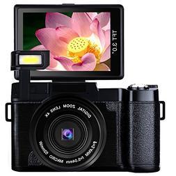 Digital Camera Vlogging Camera Full HD1080p 24.0MP Camcorder