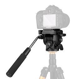pangshi Video Camera Tripod Action Fluid Drag Pan Head Compa