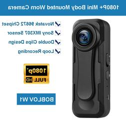 BOBLOV W1 Small Mini 1080P+ Body Mounted Video Camera H.264