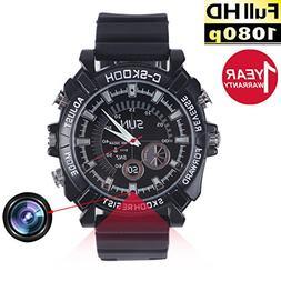 Watch Camera,Hidden Spy Watch Camera, Mini Camcorders Full H