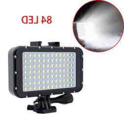 Waterproof 84 LED Diving Video Camera Light Spot Lamp Underw
