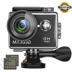 GeeKam Waterproof Camera 1080P Full HD Action Camera Underwa
