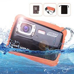Waterproof Digital Underwater Camera for kids, 12MP HD Under