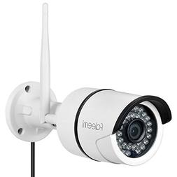 Faleemi Outdoor/Indoor Full HD WiFi Security Camera, 1080P W