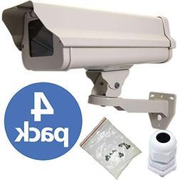 VENTECH 4 PACK Outdoor Weatherproof Heavy Duty Aluminum CCTV