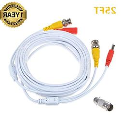 Accessory USA 25ft White BNC Video Power Wire Cord for Samsu