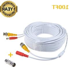 Accessory USA 100ft White BNC Video Power Wire Cord for Sams