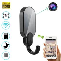WiFi 1080P Night Vision Clothes Hook Security Hidden Spy Cam