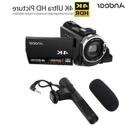 Andoer WiFi 4K 1080P 48MP Digital Video Camera Camcorder DV