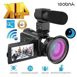 "Andoer WiFi 4K HD 1080P 48MP 16X ZOOM 3"" Digital Video Camer"