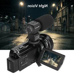 WiFi 4K HD 1080P 48MP Digital Video Camera Camcorder+ Microp