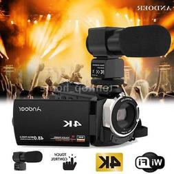 Andoer WiFi 4K UHD 1080P 48MP 16X Digital ZOOM Video Camera