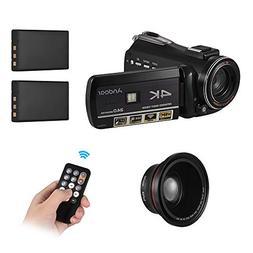 Video Camera WiFi Camcorder,Andoer AC3 4K UHD 24MP Digital C