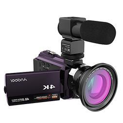 Andoer 4K 1080P 48MP WiFi Digital Video Camera Camcorder Rec