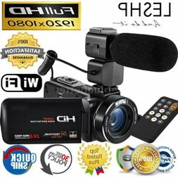 LESHP WiFi FULL HD IPS 1080P 24MP Digital Video Camera DV Ca