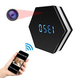 SIKVIO WIFI Hidden Camera Alarm Clock Camera HD 1080P Spy Ca