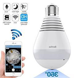 1080P WiFi IP Camera Bulb, Wireless HD Home Security Camera