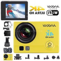 """WiFi 4K HD 1080P 2"""" LCD Waterproof Sport DV Action Camera Vi"""