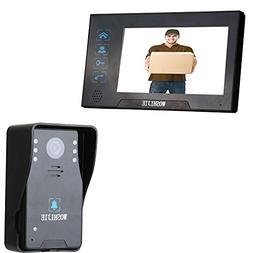 7 Inch Color LCD Wired Video Doorbell Phones Bells Chimes Ra