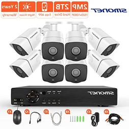 Security Camera System 1080P,SMONET 8 Channel 5-in-1 HD DVR