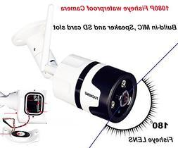 YUCHENG Wireless HD 1080P 2MP 180 Wide Angle fisheye panoram
