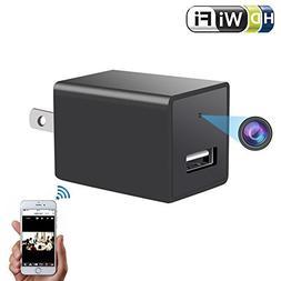 Wireless Charger Hidden Camera - ENKLOV 1080P HD P2P WiFi Sp