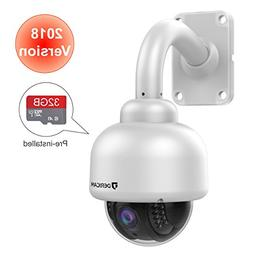 Dericam Outdoor Wireless Security Camera,Outdoor PTZ Camera,