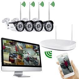 iUcar Wireless Security Camera System 4CH 720P HD Video Secu